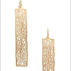 Jewelry - Rectangular Cut out Earrings